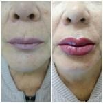 татуаж губ, фото сразу после процедуры